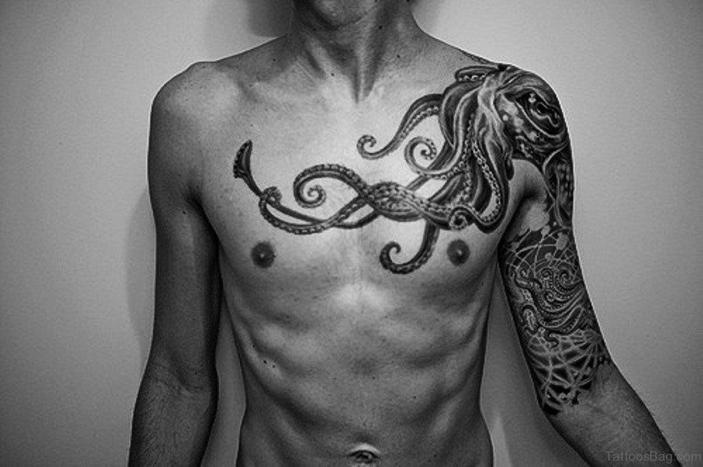 50 wonderful chest tattoos for men. Black Bedroom Furniture Sets. Home Design Ideas