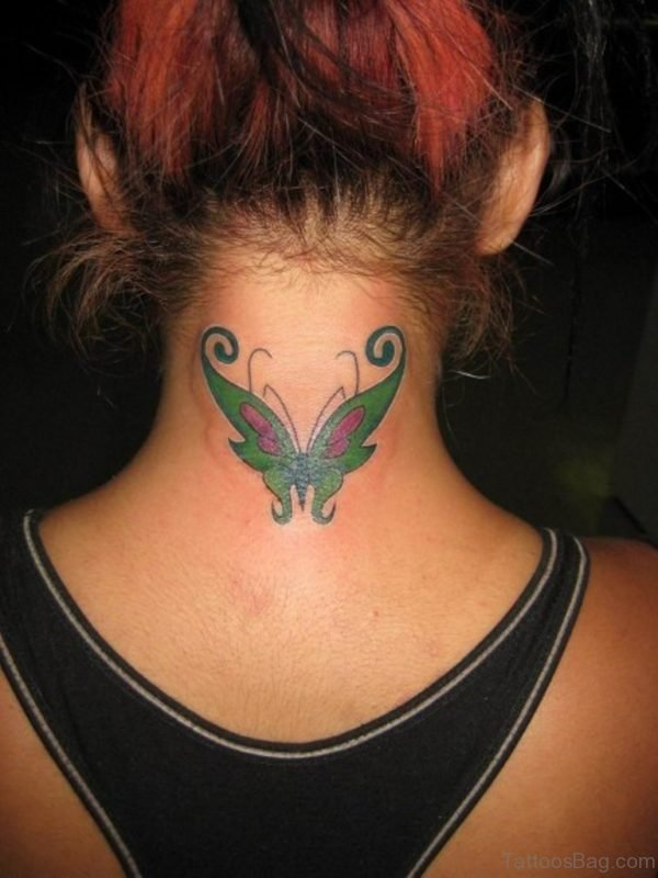 Fabulous Green Butterfly Tattoo