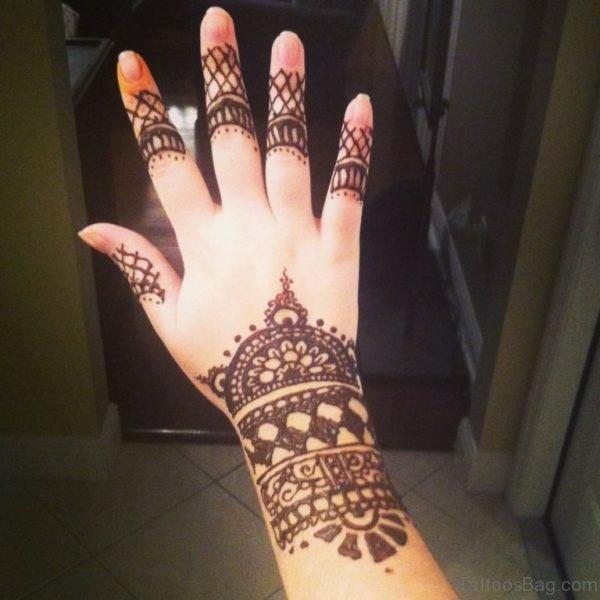 Fabulous Henna Flower Tattoo