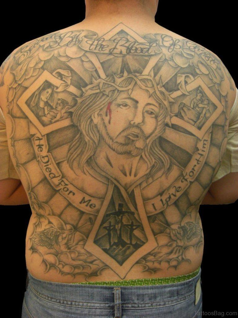 70 Fabulous Religious Tattoos For Back