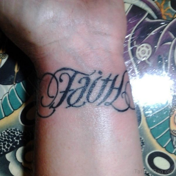 Faith Tattoo On Left Wrist