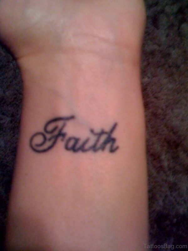 Faith Wrist Tattoo