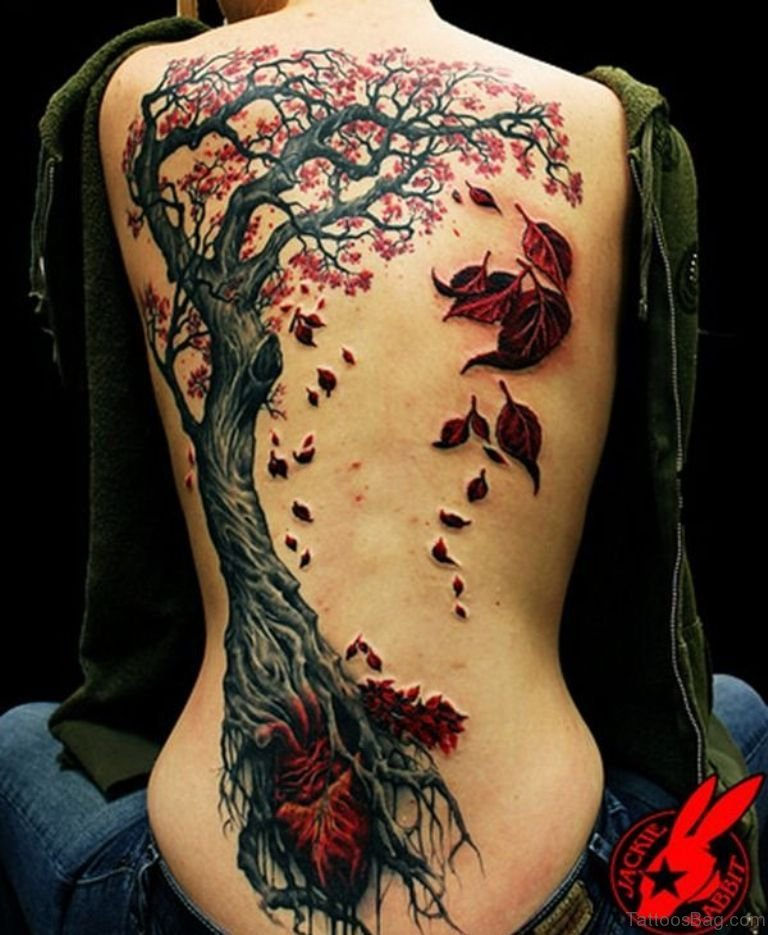 315921a30 60 Glossy Spine Tattoos For Back