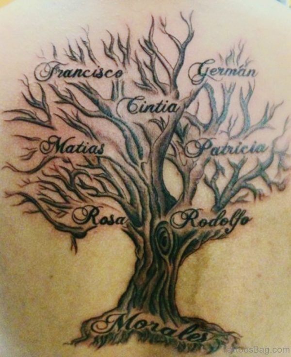 Family Tree Names Tattoo