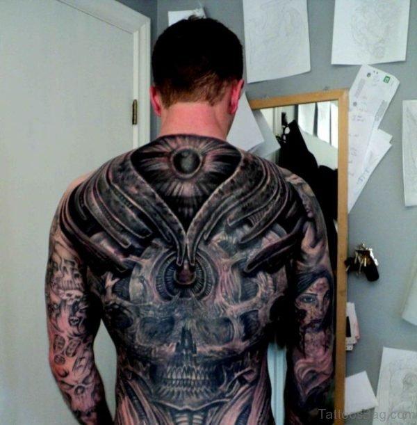 Fancy Biomechanical Tattoo