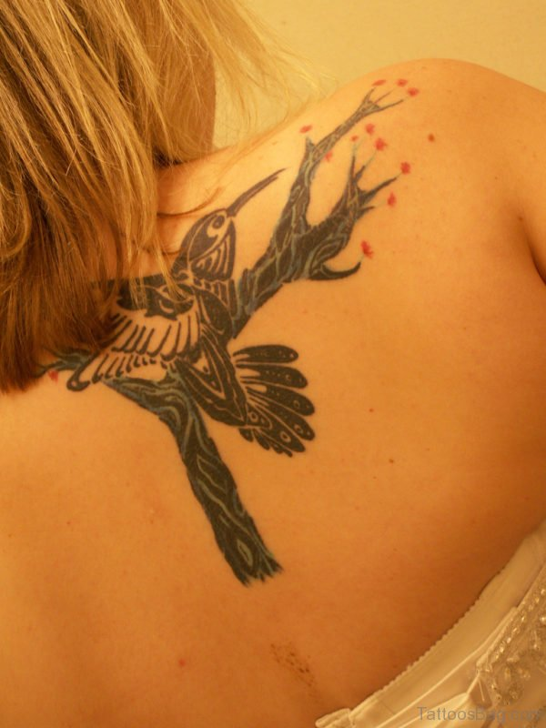 Fancy Hummingbird Tattoo
