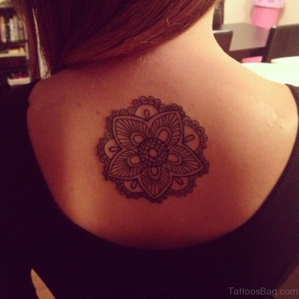 Fancy Mandala Tattoo On Back