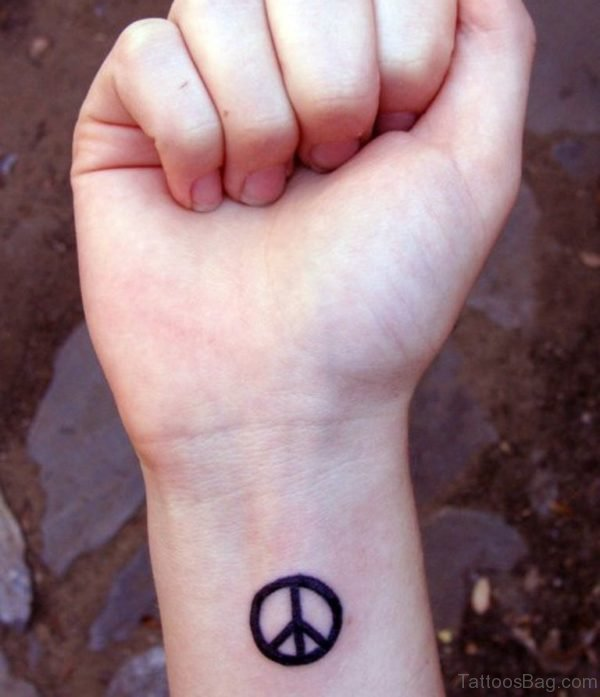 Fancy Peace Tattoo