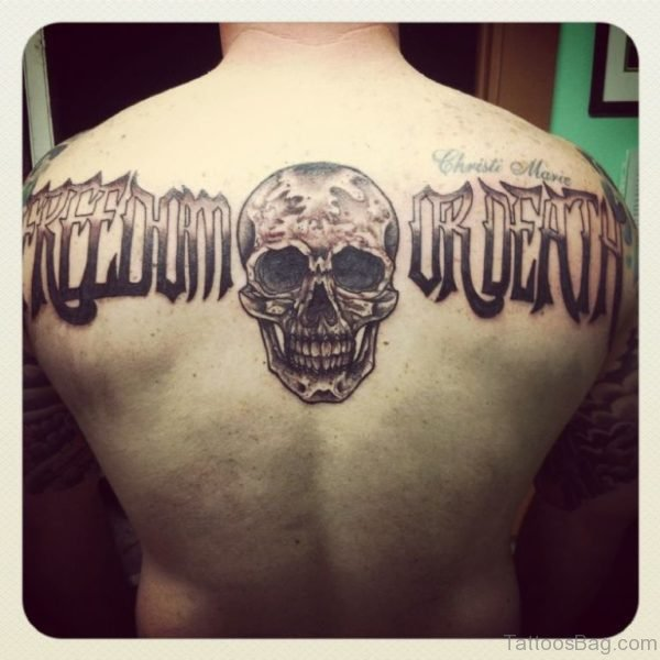 Fancy Skull Tattoo Design