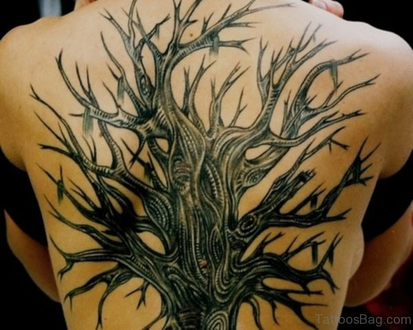 Fancy Tree Tattoo Design