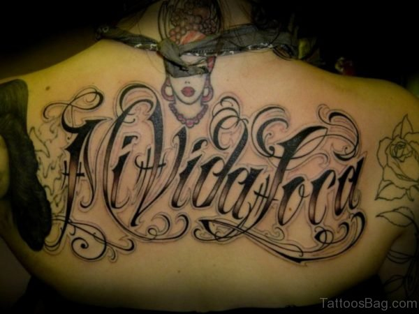 Fancy Wording Tattoo Design
