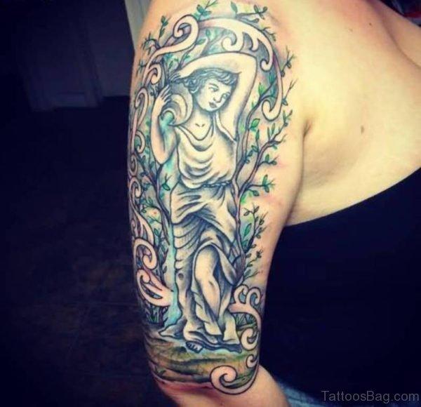 Fantastic Aquarius Shoulder Tattoo