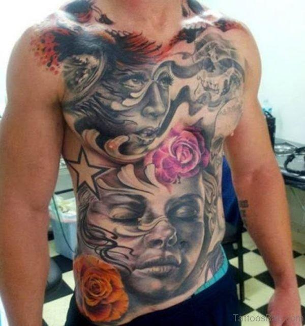 Fantastic Chest Tattoo
