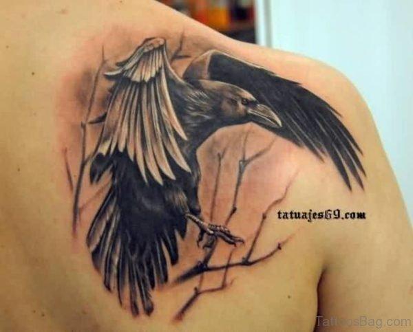 Fantastic Crow Portrait Tattoo