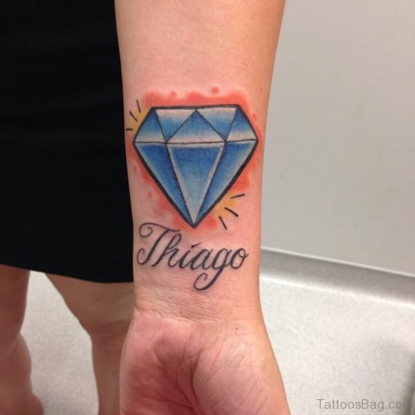 Fantastic Diamond Tattoo On Wrist