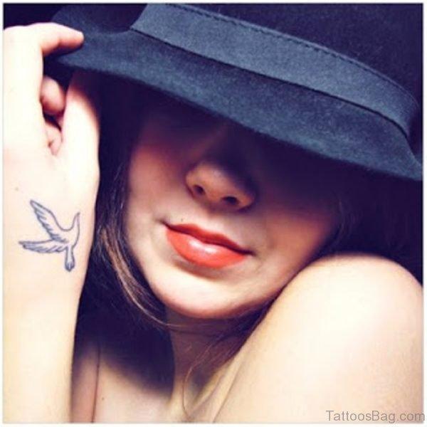 Fantastic Dove Tattoo On Wrist
