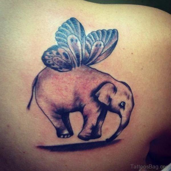 Fantastic Elephant Tattoo On Shoulder