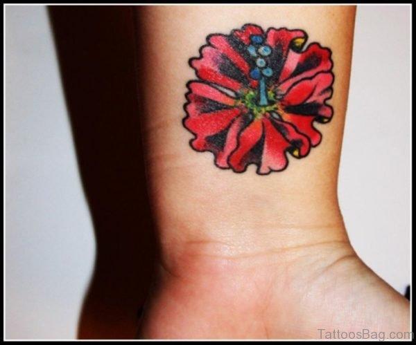 Fantastic Flower Tattoo On Wrist