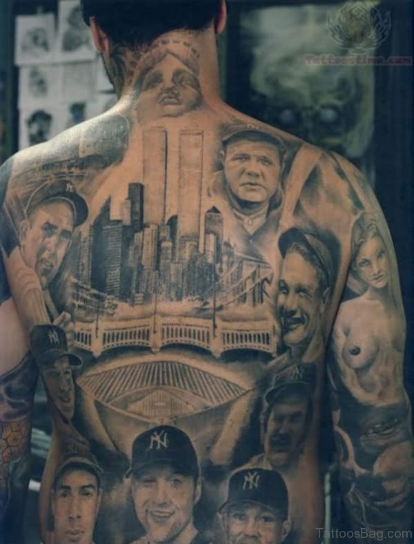 Fantastic Full Back Tattoo