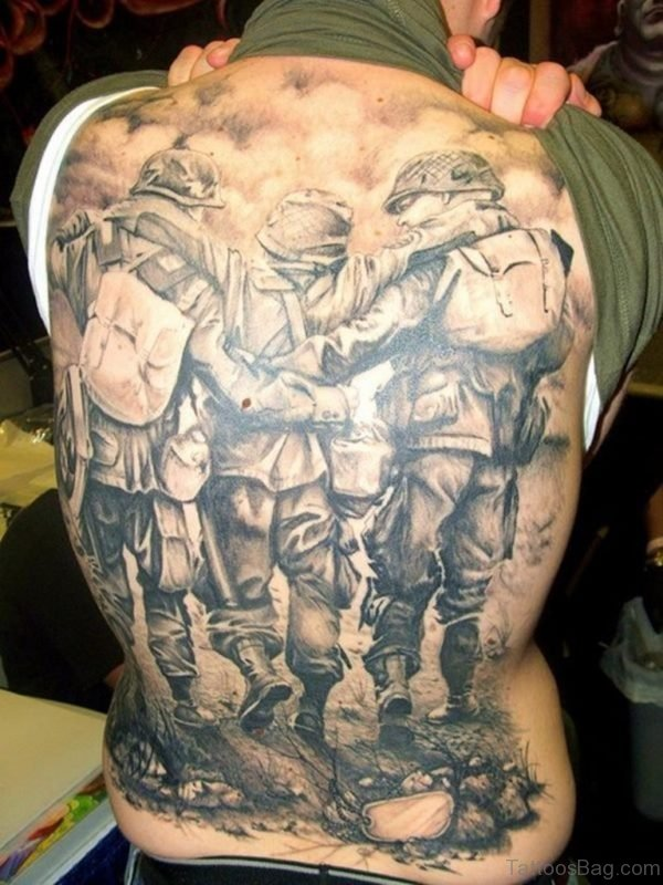 Fantastic Full Back Tattoo