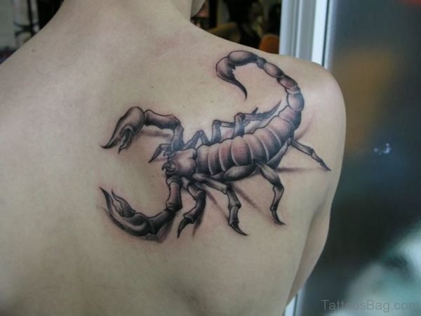 Grey Scorpion Tattoo