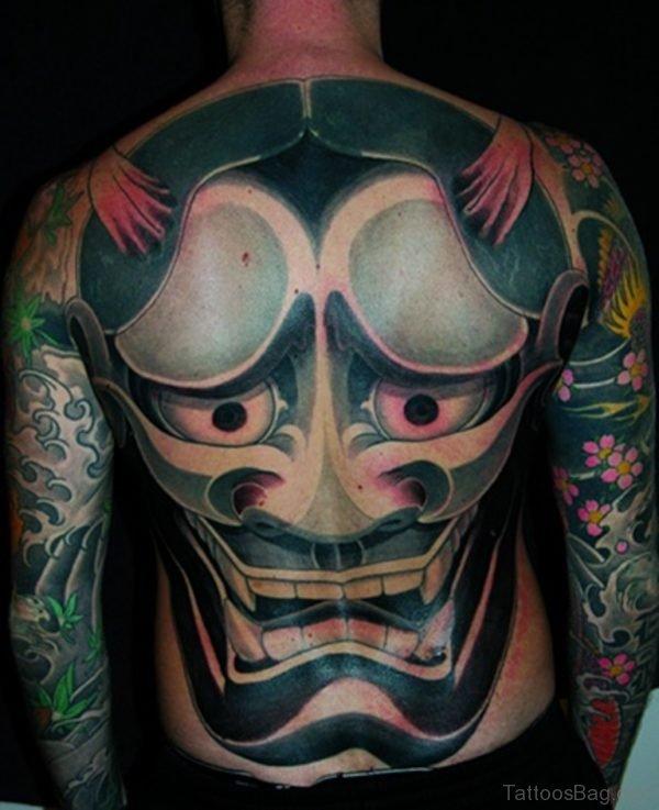 Fantastic Hannya Mask Tattoo