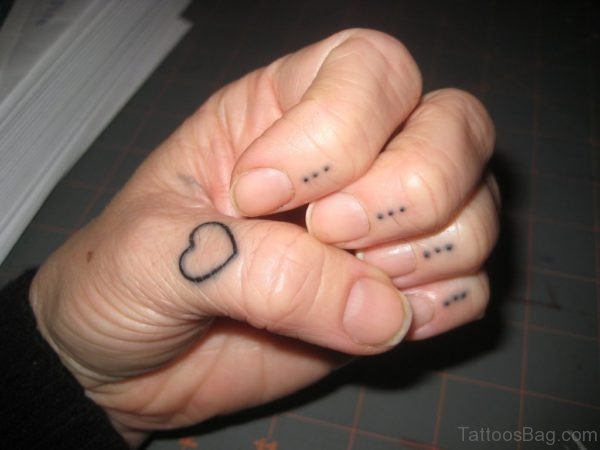 Fantastic Heart Tattoo On Finger