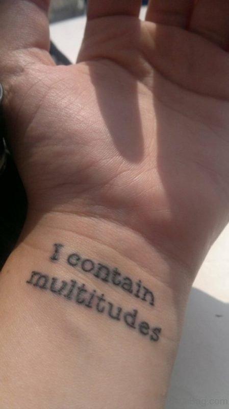Fantastic Lettering Tattoo