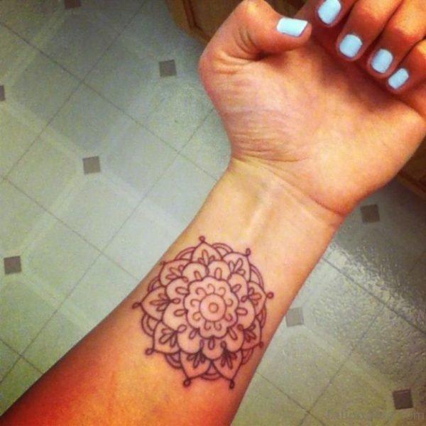 Fantastic Lotus Tattoo On Wrist