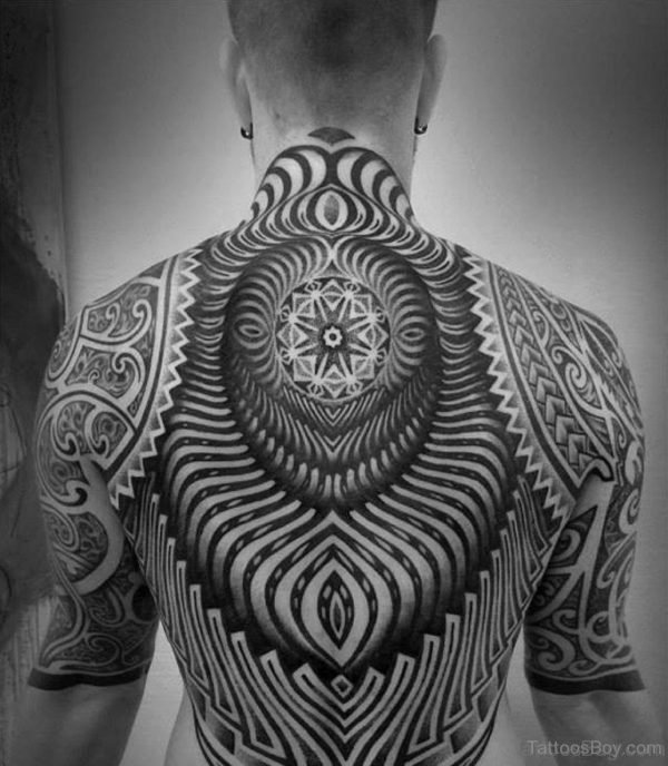 Fantastic Mandala Tattoo On Back