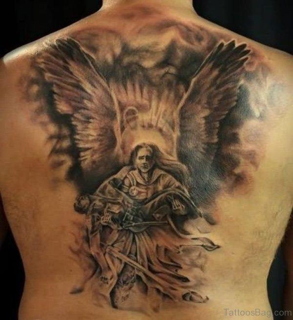 Fantastic Memorial Angel Tattoo