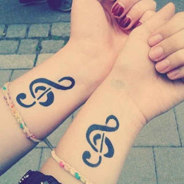 Fantastic Note Tattoo On Wrist