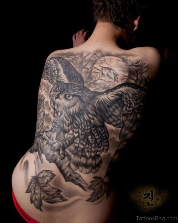 Fantastic Owl Tattoo Design
