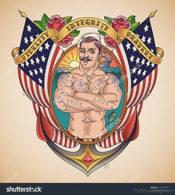 Fantastic Patriotic Tattoo