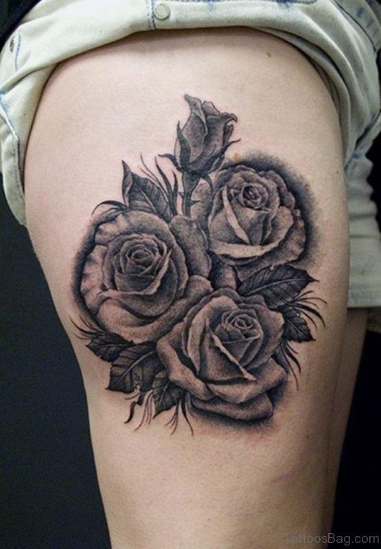 Fantastic  Rose Tattoo