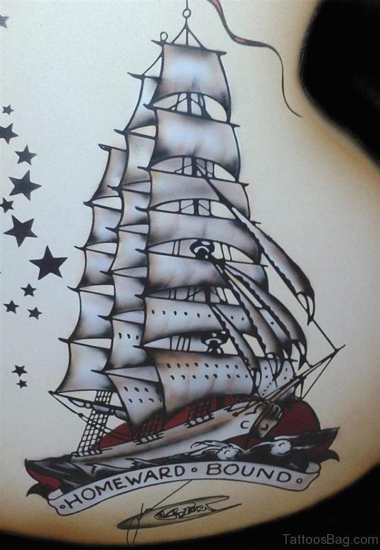 Fantastic Ship Tattoo