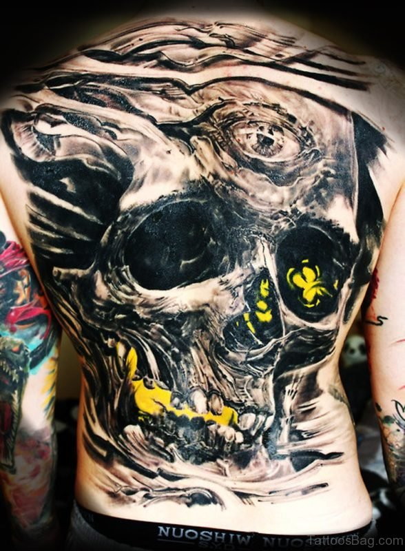Fantastic Skull Tattoo Design