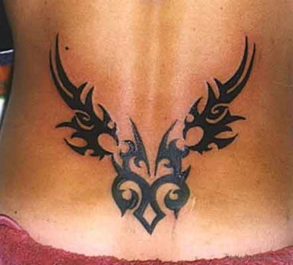Fantastic Tribal Tattoo On Lower Back
