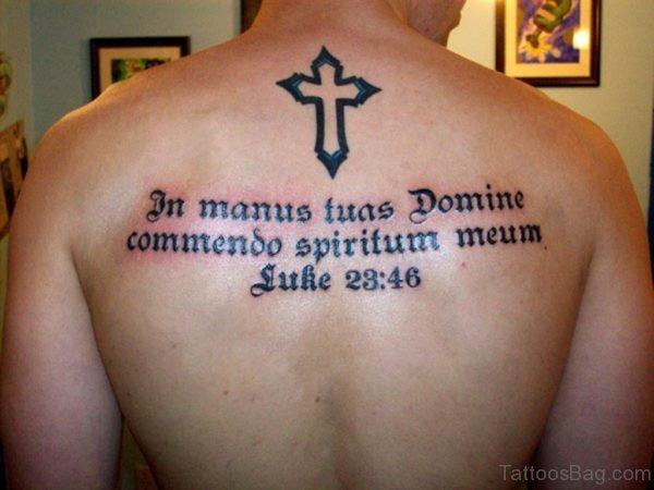 Fantastic Wording Tattoo On Back