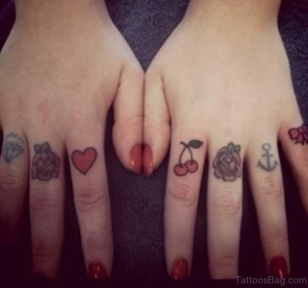 Fantastic knuckle Tattoo Design