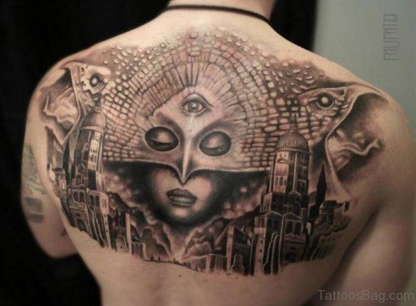 Fantasy Mask Tattoo