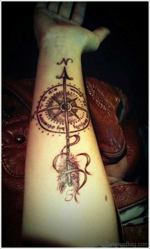 Fantastic Compass Tattoo Design