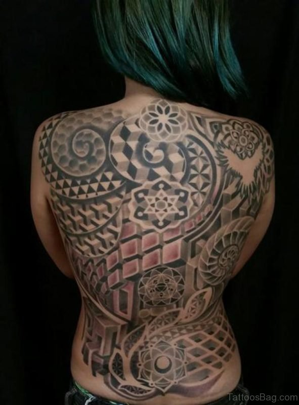 2ecc46403 69 Great Geometric Tattoo Design On Back