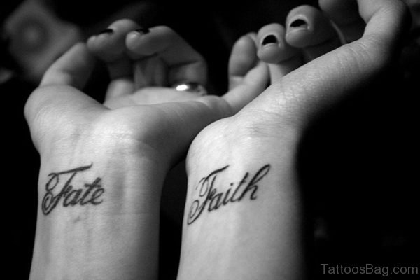 Fate Faith Tattoo On Wrist
