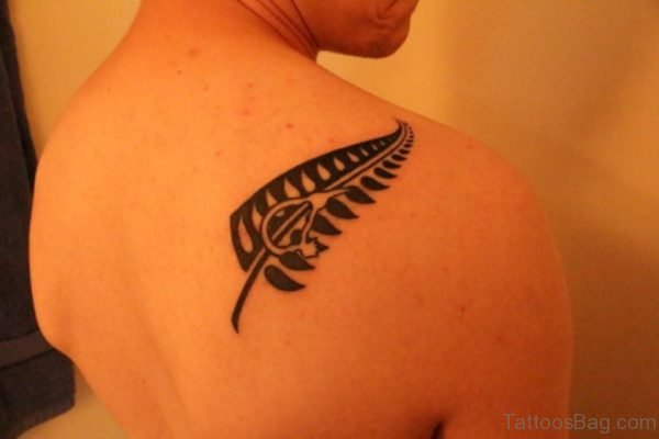 Fern Tattoo Design On Back