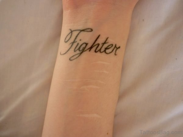 Fighter Word Tattoo