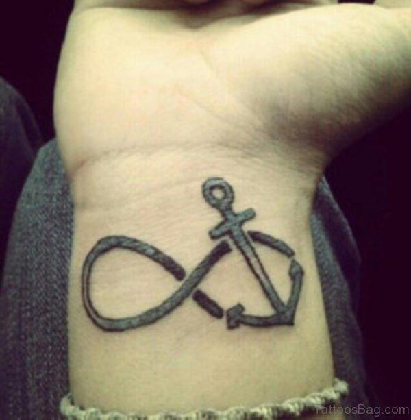 Fine Anchor Tattoo On Wrist