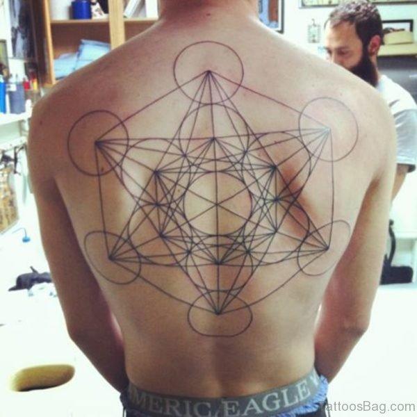 Fine Geometric Tattoo On Full Back