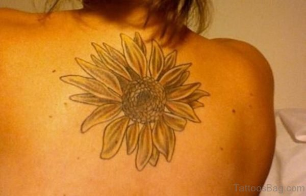Fine Sunflower Tattoo