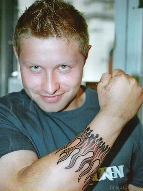 Flames Wrist Band Tattoo Design